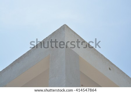 roof against the sky