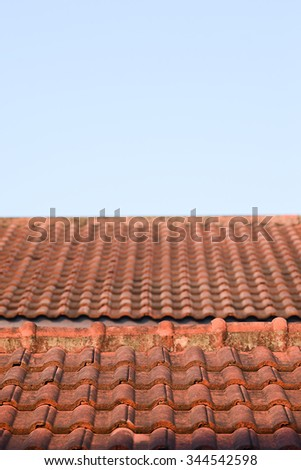 roof and sky background pattern
