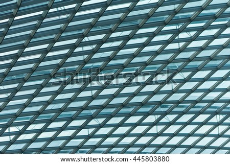 roof architecture detail with steel