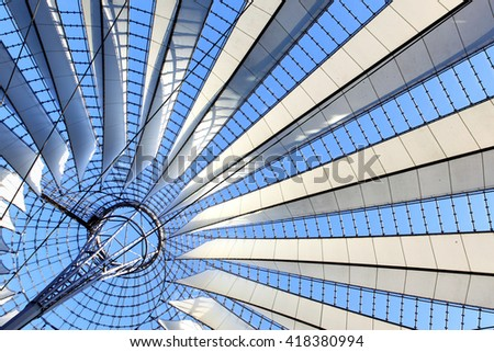 Roof construction  - abstract architectural background - stock photo