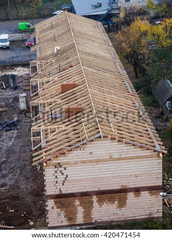 Roof construction - townhouse
