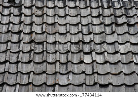 Roof covered with tiles