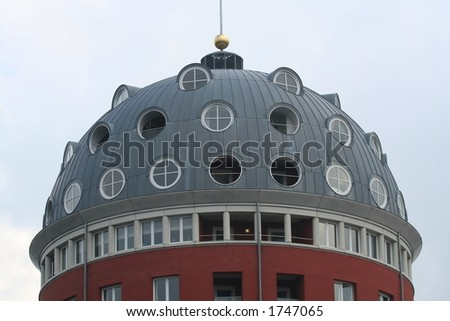 Roof detail of modern building