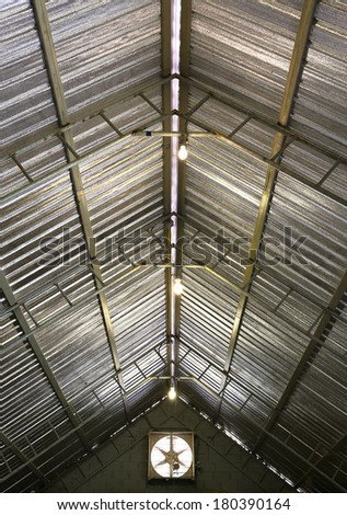 roof inside - stock photo