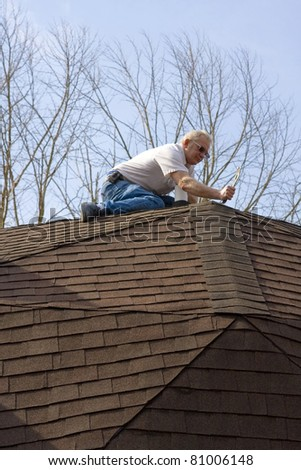Roof inspector check for damage after recent wind storms, many roofs were damaged