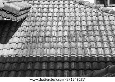 Roof, Light and shadow pattern