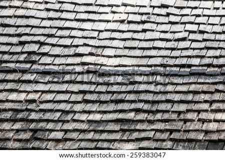 roof made from the wood.