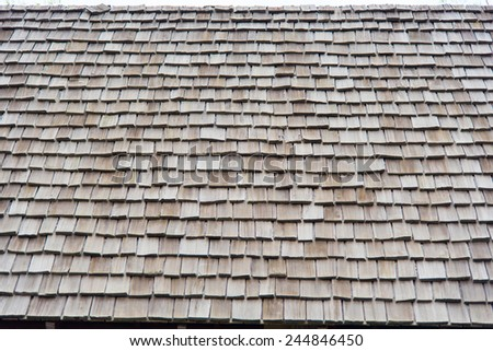 roof made from wooden old style architechture - stock photo