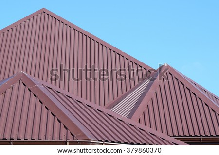 Roof sheets stock images royalty free images vectors for Modern roofing materials