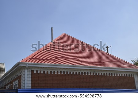Gable roof stock images royalty free images vectors for Modern roofing materials
