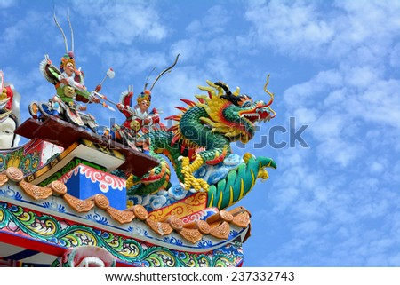 Roof of Chinese Temple