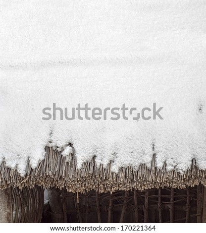 roof of dry cane - stock photo