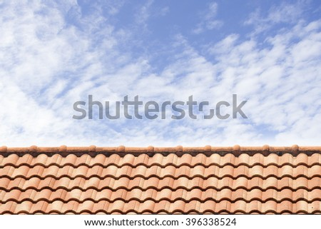 roof of house under the blue sky