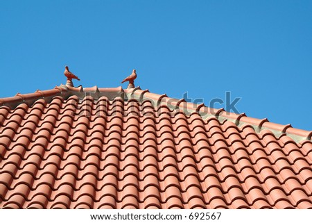 Roof of roofing tiles