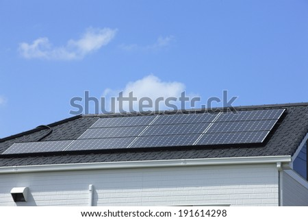 Roof of solar panels