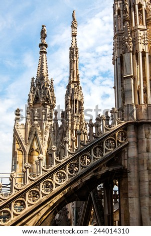 Roof of the Famous Milan Cathedral, Lombardy, Italy