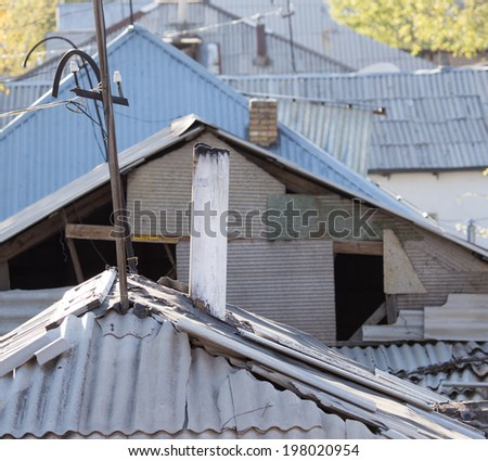 roof of the house - stock photo