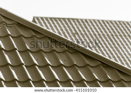 roof of the house as a background