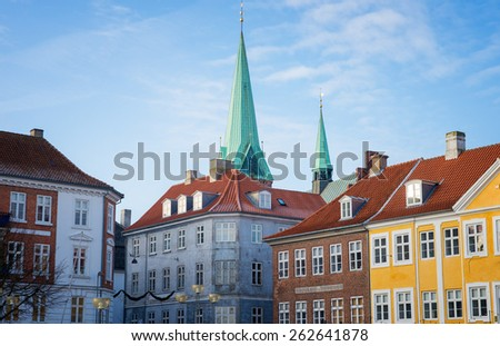 roof of the old  house in Helsingor - stock photo