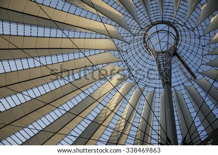 Roof of the Sony Center, Berlin
