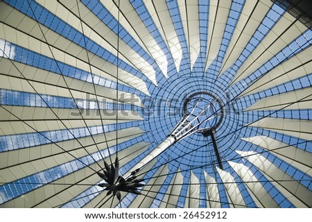 Roof of the Sony Center in Berlin (Germany)