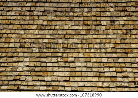 roof pattern - stock photo
