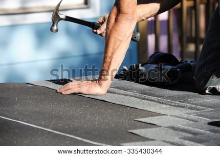 roof repairing - stock photo