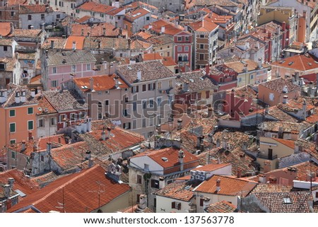 roof Rovinj - stock photo