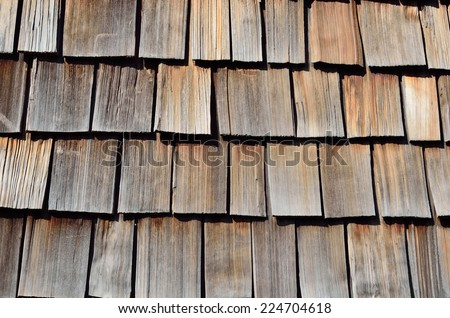 Roof shingles are a roof consisting of individual overlapping elements. - stock photo