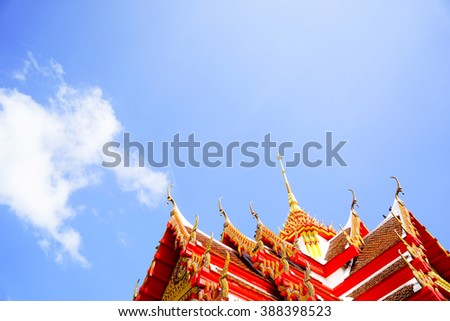 Roof style of thai temple:Close up,select focus with shallow depth of field:ideal use for background.