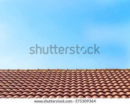 Roof surface and blue sky backgroud