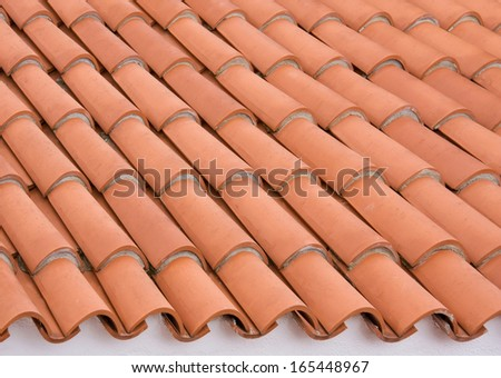 Roof tile background, close up
