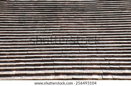 roof tile in Thailand - stock photo