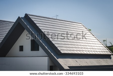 roof tile on residential building construction house.