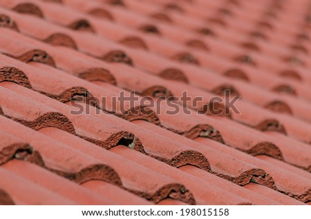 Roof tile pattern close up - stock photo