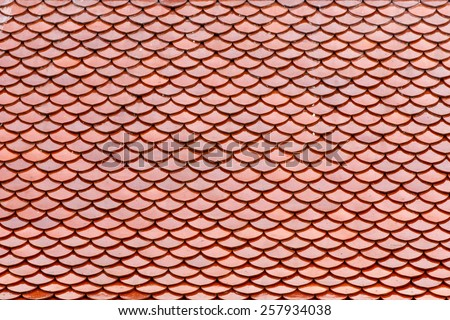 roof tile temple, background