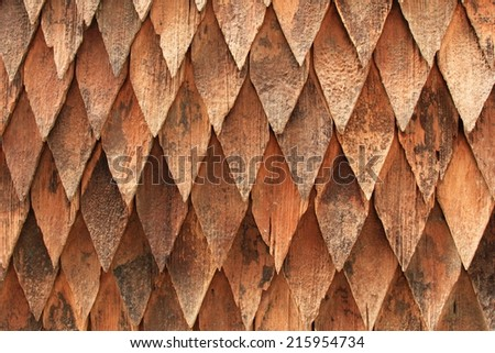 Roof tile wood background - stock photo