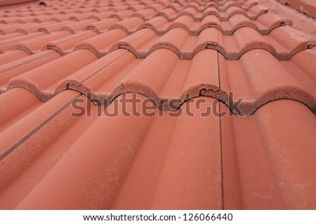 Closeup Roof Tiling Mission Basilica San Stock Photo