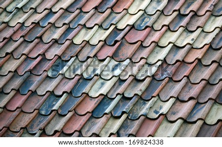 Roof tiles of old house