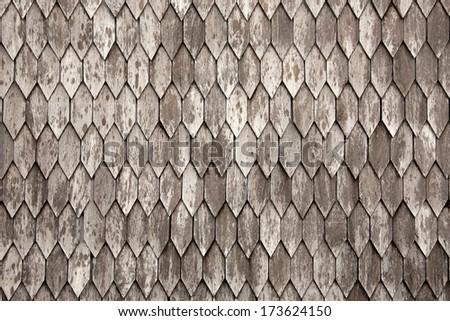 Roof tiles texture - stock photo