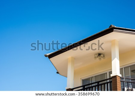 roof tiles with blue sky background