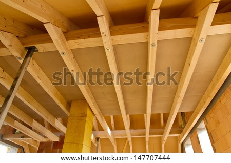 Roof truss - stock photo