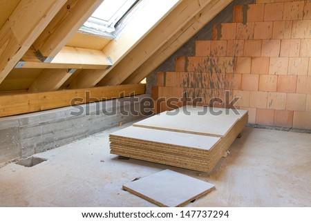 Roof truss - stock photo