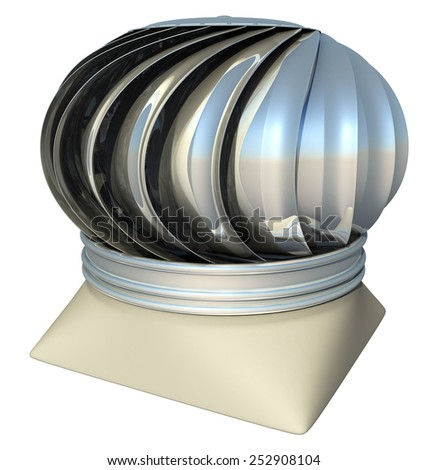 roof ventilation heater, 3d render isolated on white - stock photo