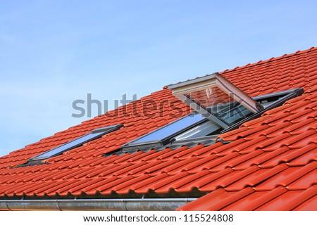 Roof windows - stock photo