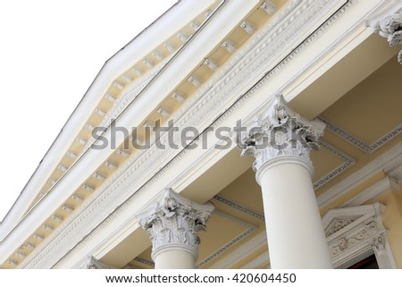 Roof with columns of an old building