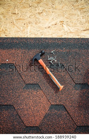 Roofing background. Shingles roof