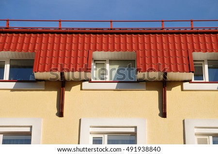 Roofing construction. Close up on metal roofing with roof protection from snow board snow & Fireplace Protection Stock Photos Royalty-Free Images u0026 Vectors ... memphite.com