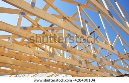 roof trusses stock images royalty free images vectors. Black Bedroom Furniture Sets. Home Design Ideas