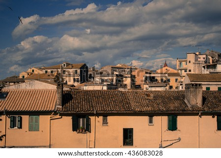 Roofs in Corfu